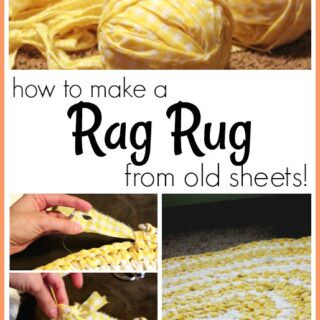 How to make a rag rug from old sheets