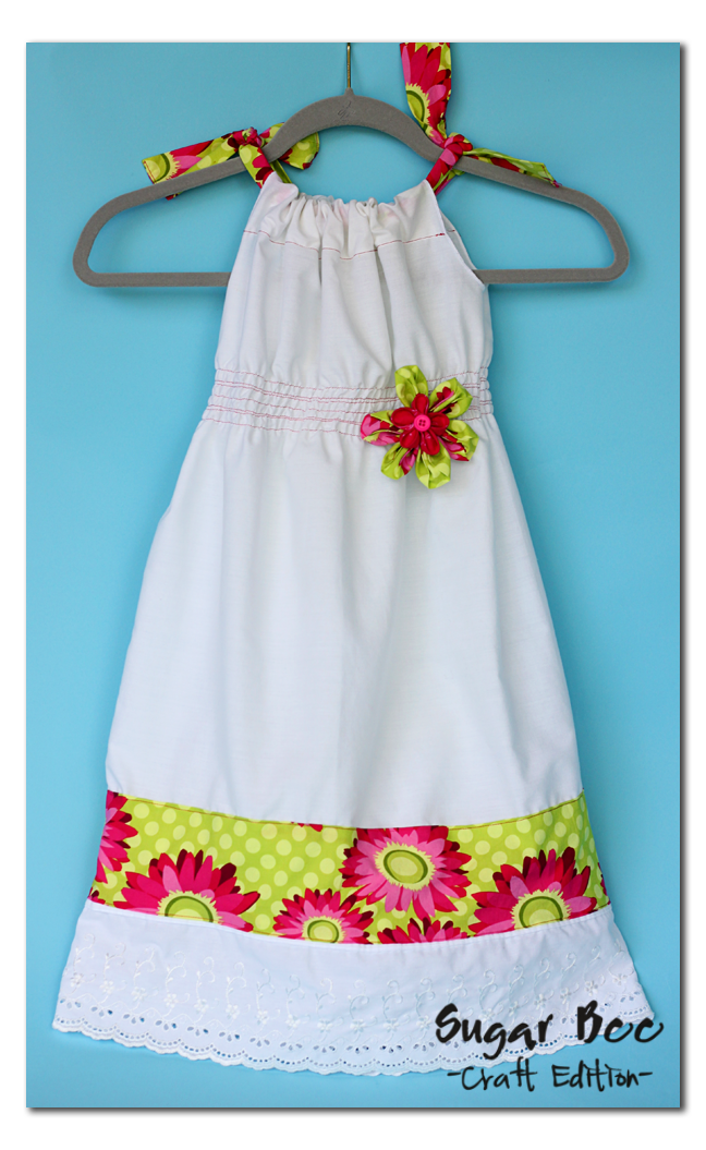 Pillowcase Dress With Band Tutorial: Shirred Pillowcase Dress Tutorial   Sugar Bee Crafts,