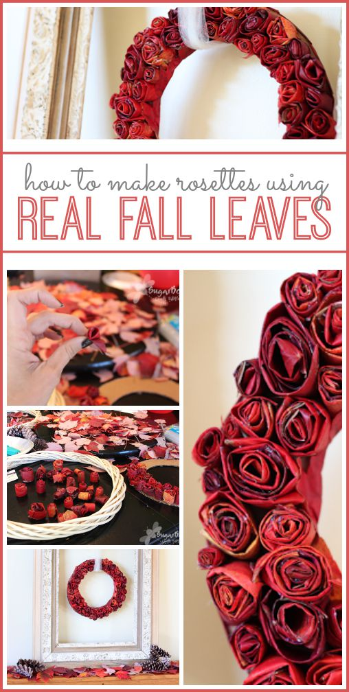 fall leaves rosette wreath how to tutorial