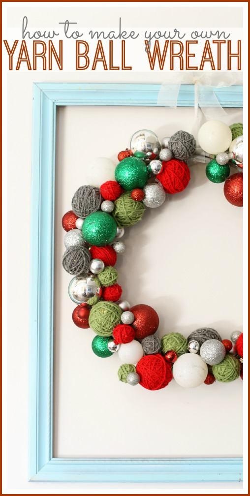 how to make a yarn ball wreath