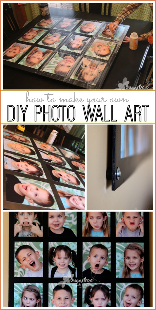 how to make photo wall art diy