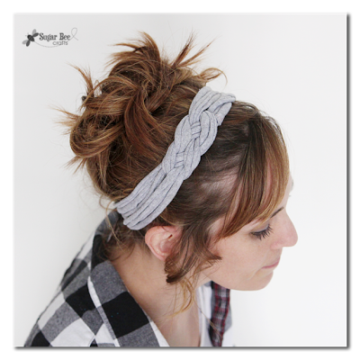 knotted headband from tshirt yarn - a how-to tutorial