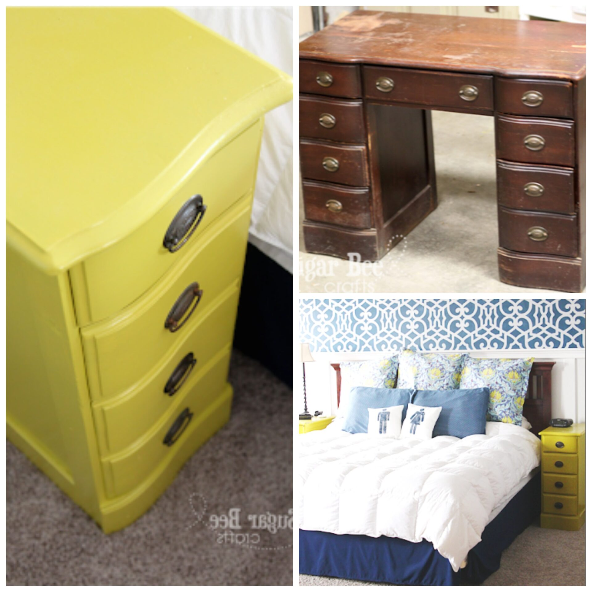 Nightstands From A Desk Sugar Bee Crafts