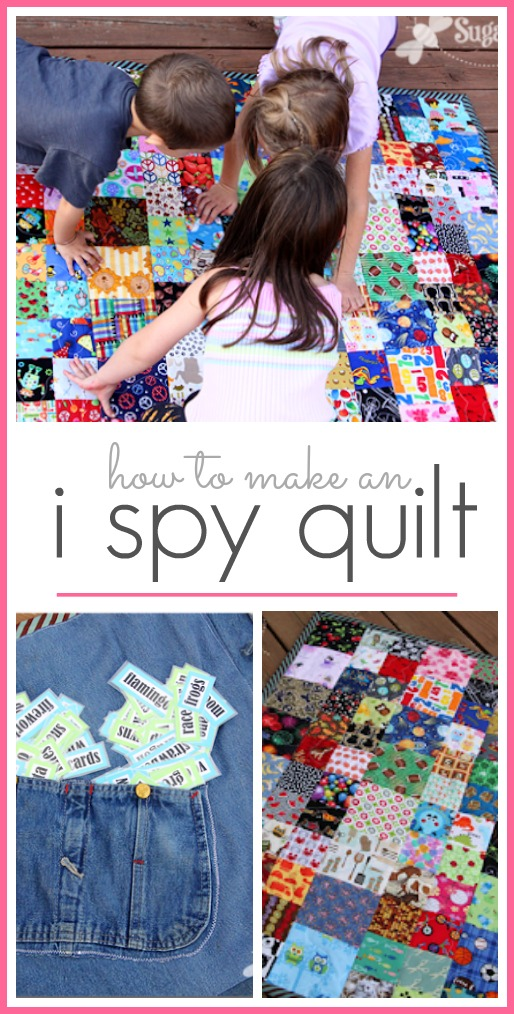 How to make an i spy quilt ispy idea