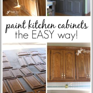 Easy way to paint kitchen cabinets