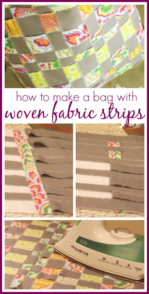 Woven fabric strips bag