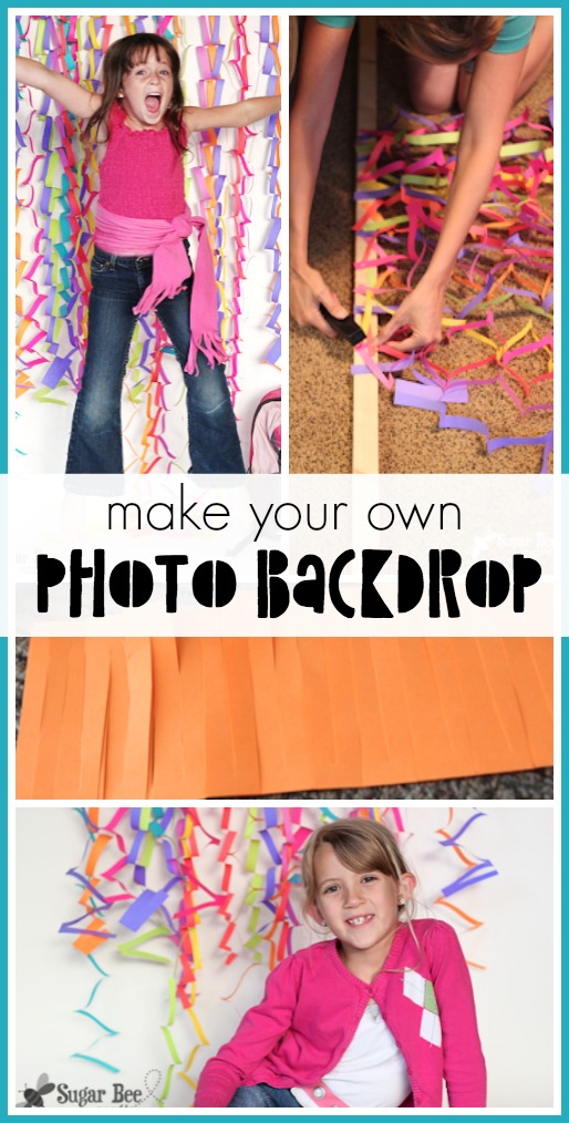 how to make a photo backdrop from colorful paper