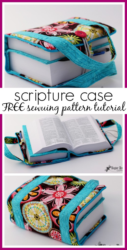 Fabric scripture case sewing pattern tutorial idea