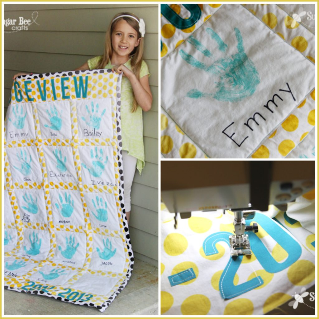handprint quilt teacher gift