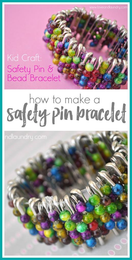 Kids craft idea safety pin bracelet
