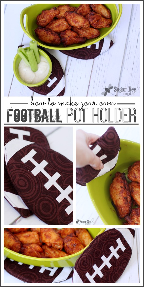 how to make a football pot holder