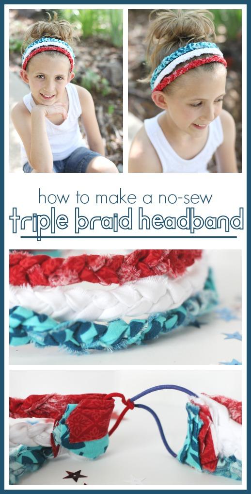 Triple braid headband how to make simple craft