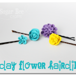 Clay Flower Hairpins