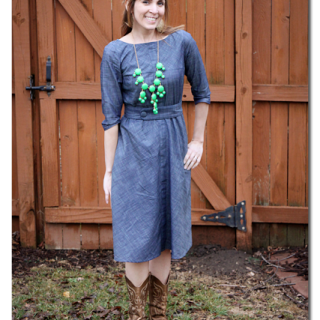 eshakti chambray dress custom fit
