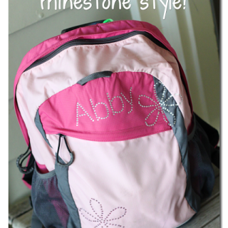 Personalized Backpack with Rhinestones