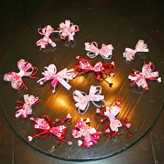 Valentine Hairbows