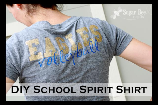 diy school spirit shirt sugar bee crafts ForDiy School Spirit Shirt