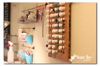 Craft Paint Wall Organizer