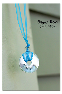 Stamped Washer Necklaces Sugar Bee Crafts