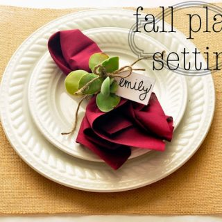 Fall Place Setting with Printable
