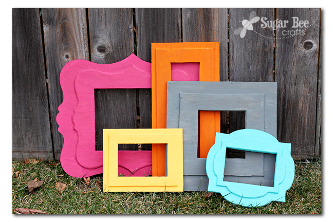 DIY Foam Frames of Awesomeness - Sugar Bee Crafts
