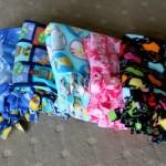 Fleece Fringe-Tied Blankets