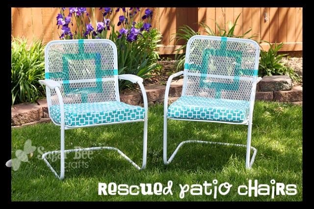 trash to treasure patio chairs sugar bee crafts. Black Bedroom Furniture Sets. Home Design Ideas