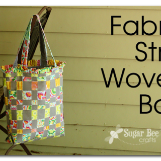 Fabric Strip Woven Bag