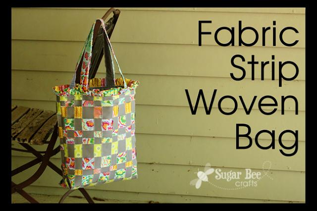 Fabric Strip Woven Bag Sugar Bee Crafts