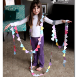 100 days of school heart garland project