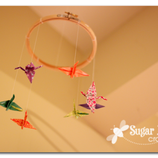 Origami Crane mini mobile tutorial - Sugar Bee Crafts