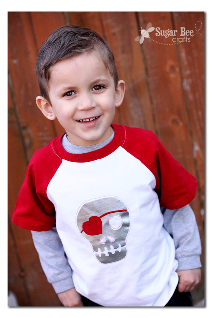 Boy S Skull Heart Valentine Shirt Sugar Bee Crafts