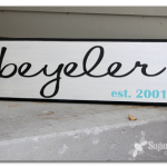 Family Name Sign Tutorial how-to