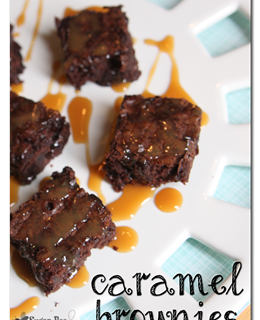 Easy Caramel Brownies
