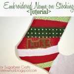 Embroidered Name Stocking – Sisters, Sisters