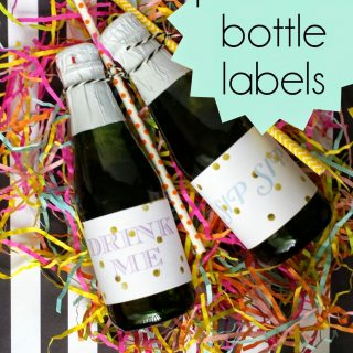 Party Contributor: Printable Bottle Labels
