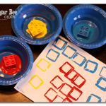 Preschool Idea – primary color stamping