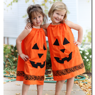 Pillowcase Pumpkin Dress