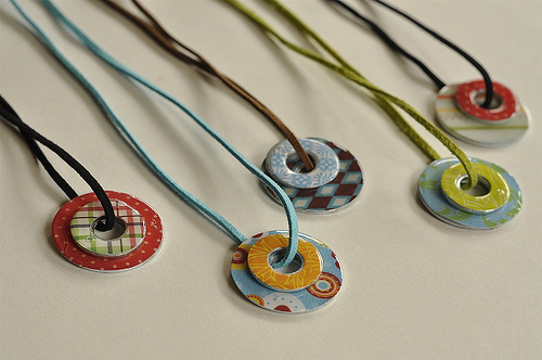 S Camp Craft Washer Necklaces Sugar Bee Crafts