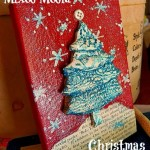 Mixed Media Christmas Collage by ArtsyVa