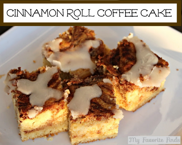 Cinnamon Roll Coffee Cake - Sugar Bee Crafts