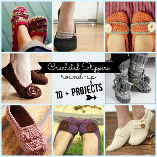 Crocheted+slippers