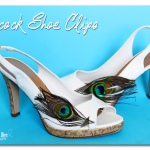 Peacock Shoe Clips