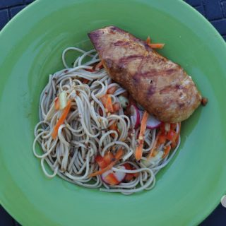 Ginger Soy Chicken with Soba Noodle Salad