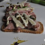 {Food Contributor} – Beef hors D'oeuvres with Horseradish Cream Sauce