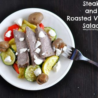 {Food Contributor} Steak and Roasted Veggie Salad