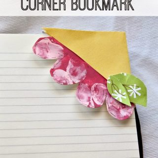 Fingerprint+flower+bookmark
