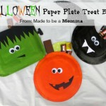 Halloween Paper Plate Treat Bag