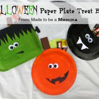 Halloween+paper+plate+treat+bag