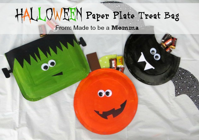 Halloween Paper Plate Treat Bag Sugar Bee